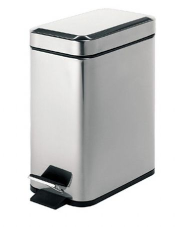 Gedy Rectangular Pedal Bin 5 Litre Polished 2909-13
